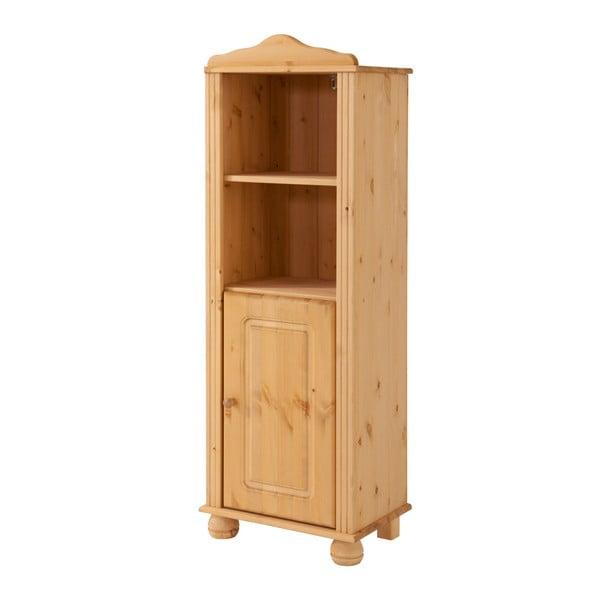 Hnedá knižnica z masívneho borovicového dreva s dvierkami Støraa Ella
