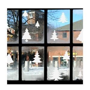 Elektorstatická samolepka Fanastick Bright White Christmas Trees
