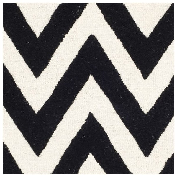 Vlnený koberec Stella 152x243 cm, čierny
