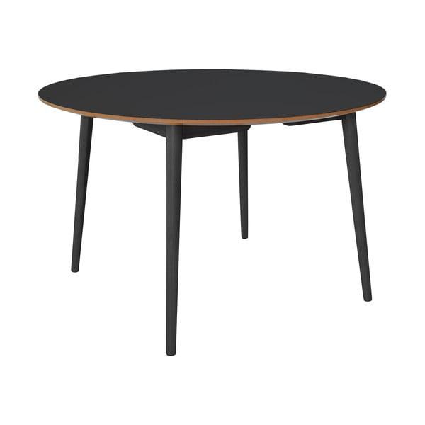 Čierny jedálenský stôl s dubovými nohami RGE Trim