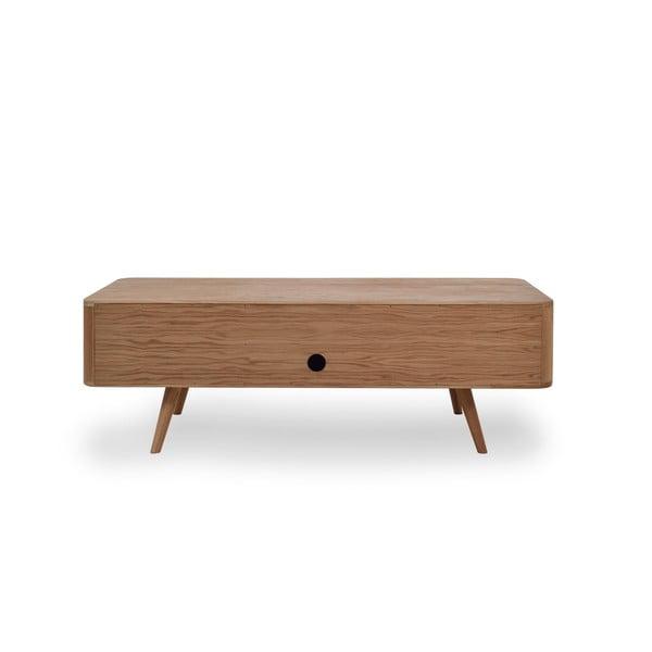 Televízny stolík z dubového dreva Gazzda Ena, 135 x 42 x 45 cm