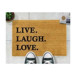 Rohožka Artsy Doormats Live Laugh Love, 40x60cm