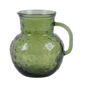 Zelený sklenený džbán Ego Dekor Flora, 2,3 litra