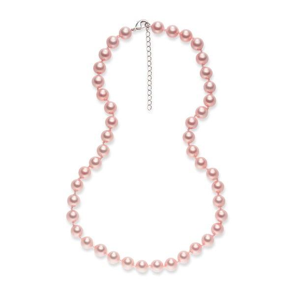 Perlový náhrdelník Pearls Of London Mystic Rose, 50 cm