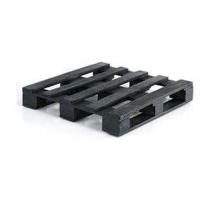 Čierna drevená paleta k pohovke Oreste Luchettas Yantra, 80 × 80 cm