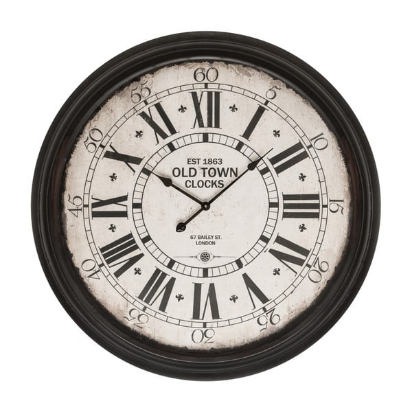 Hodiny Black Wall Clock, 93 cm