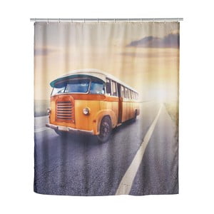 Retro sprchový záves Bus