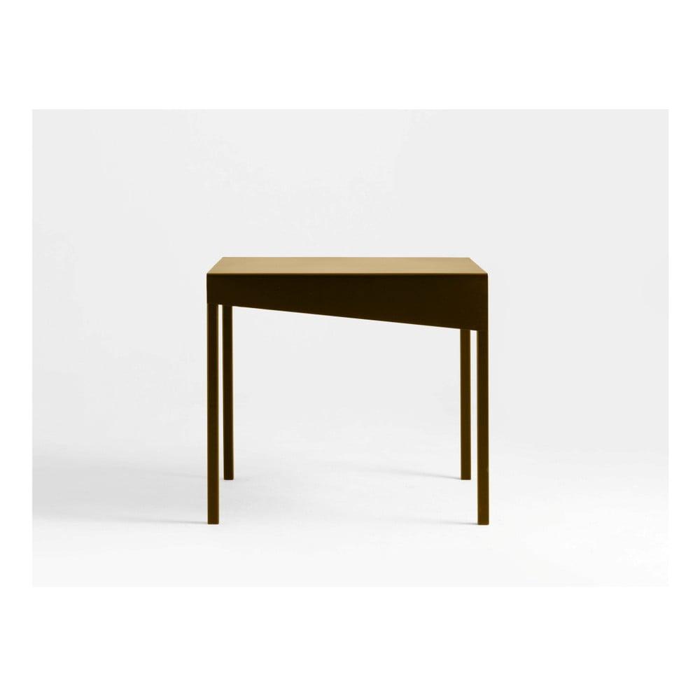 Konferenčný kovový stôl v zlatej farbe Custom Form Obroos, 50 x 50 cm