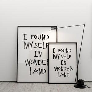 Plagát I found myself in wonderland, 50x70 cm