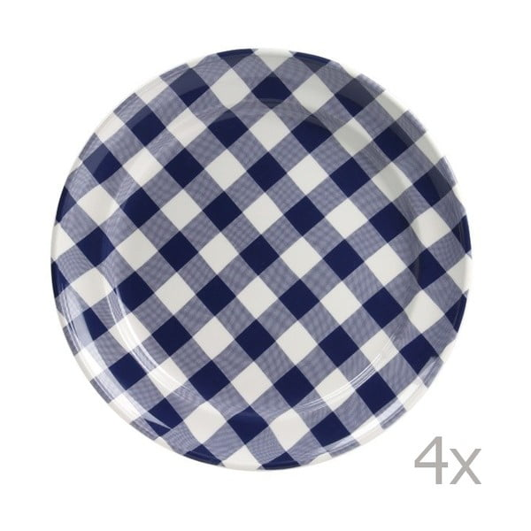 Sada 4 tanierov Anne 32 cm, modrá
