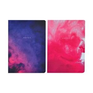 Sada 2 zápisníkov A5 Portico Designs Purples Abstract, 100 stránok
