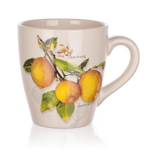 Keramický hrnček Banquet Lemon, 500ml