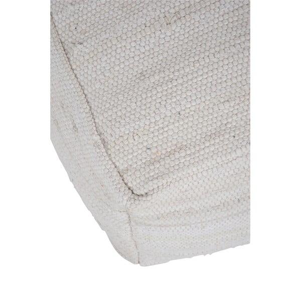 Puf Chindi, 50x50 cm, biely