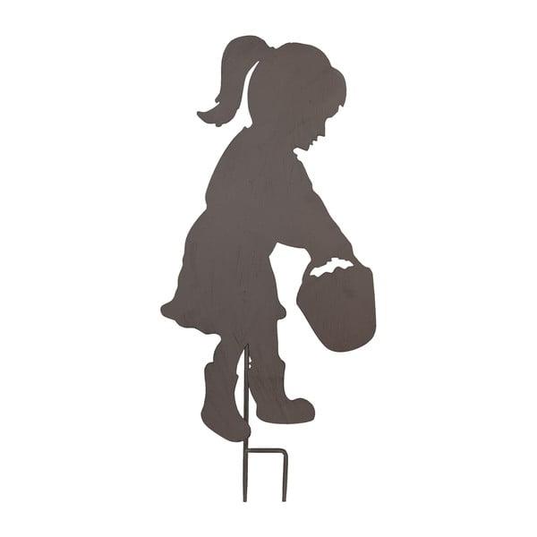 Zapichovacia ceduľa na záhradu Little Girl, 66 cm