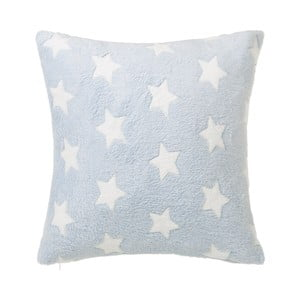 Svetlomodrý vankúš s motívom hviezdičiek Unimasa Star, 45 x 45 cm