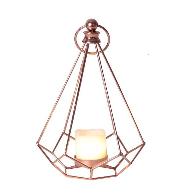 LED lampáš v medenej farbe Best Season Dome