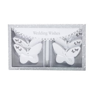 Sada 54 kartičiek na písanie svadobných blahoželaní Butterflies