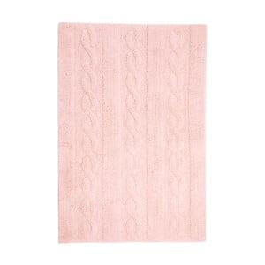 Ružový bavlnený ručne vyrobený koberec Lorena Canals Braids, 80 x 120 cm