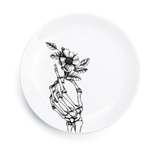 Porcelánový tanier Skeleton, 25 cm