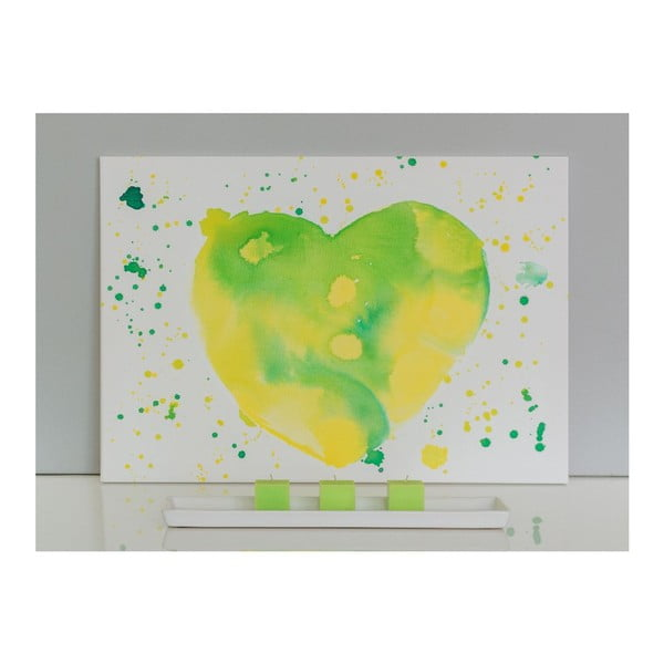 Obraz Lime Heart, 50x70 cm