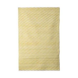 Žltý bavlnený ručne tkaný koberec Pipsa Diagonal, 140×200 cm