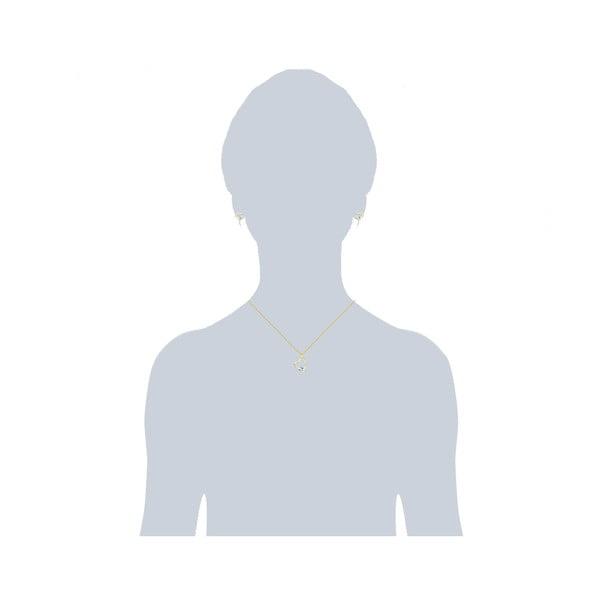 Sada náušníc a náhrdelníku Prong White