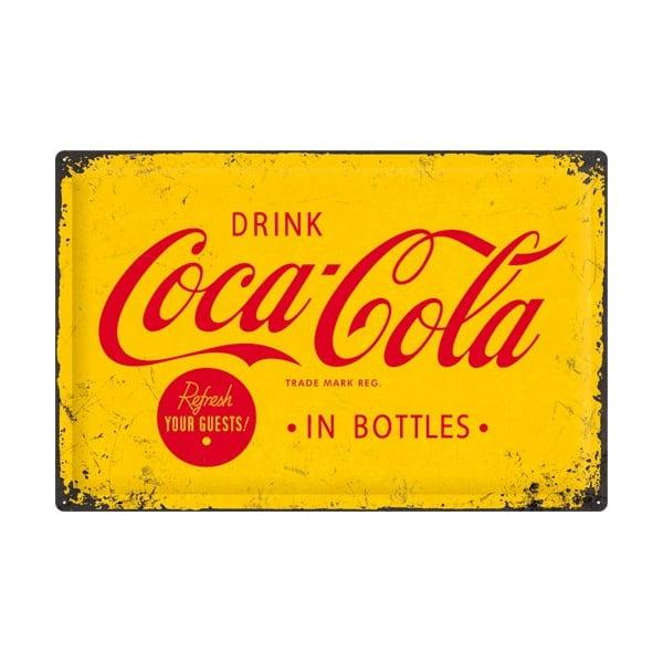 Plechová ceduľa Drink Cola, 40x60 cm