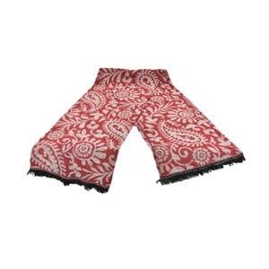Červený dámsky šál s prímesou bavlny Dolce Bonita Otantic Mini, 170 × 90 cm