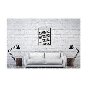 Čierna nástenná dekorácia Oyo Concept Think Outside The Box, 35×50 cm