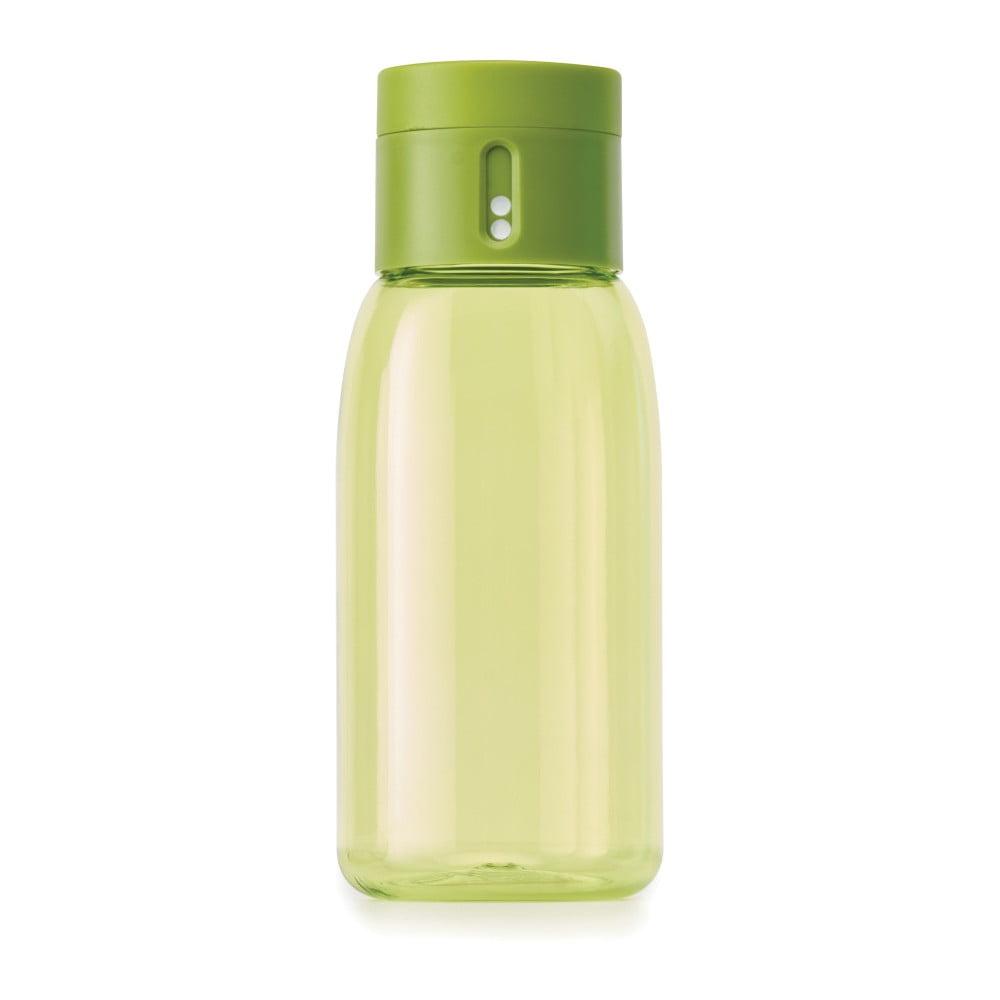 Zelená fľaša s počítadlom Joseph Joseph Dot, 400 ml