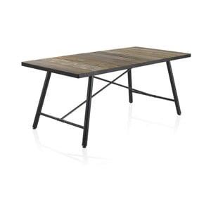 Drevený jedálenský stôl s kovovými nohami Geese Capri, 150×90 cm