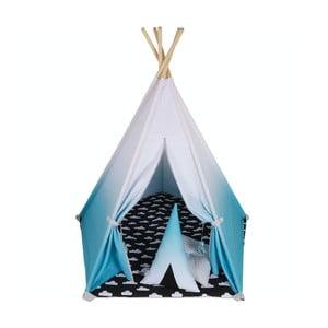 Modro-biele päťuholníkové teepee VIGVAM Design Ombré