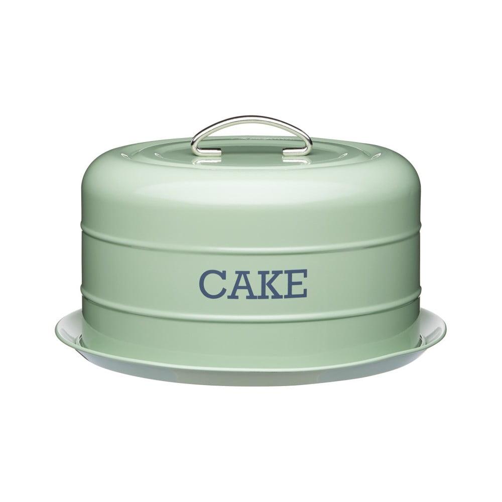 Zelená plechová dóza na tortu Kitchen Craft Nostalgia