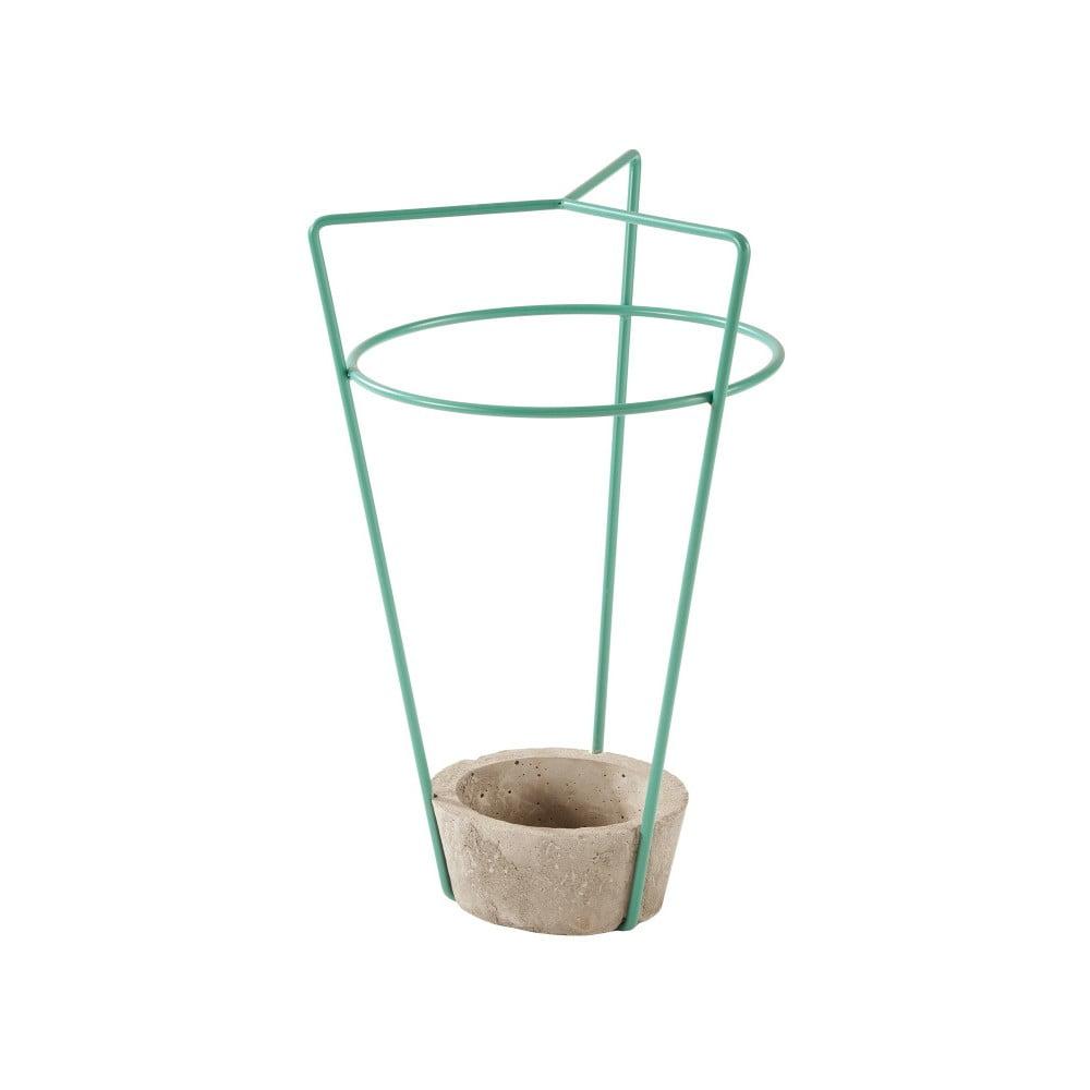 Zelený stojan na dáždniky s betónovou základňou MEME Design Ambrogio