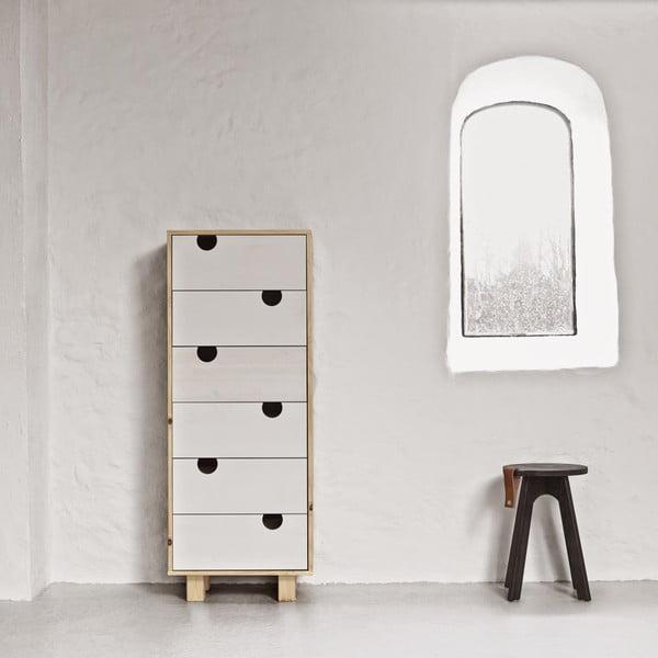 Komoda so šiestimi zásuvkami Karup House Natural / White