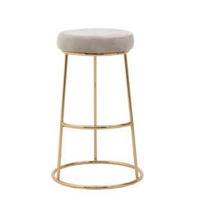 Svetlosivá stolička InArt Velvet Society, výška 68 cm