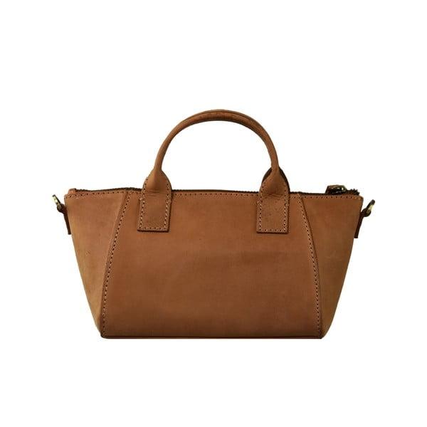 Hnedá kožená kabelka O My Bag Fly Violet Nano