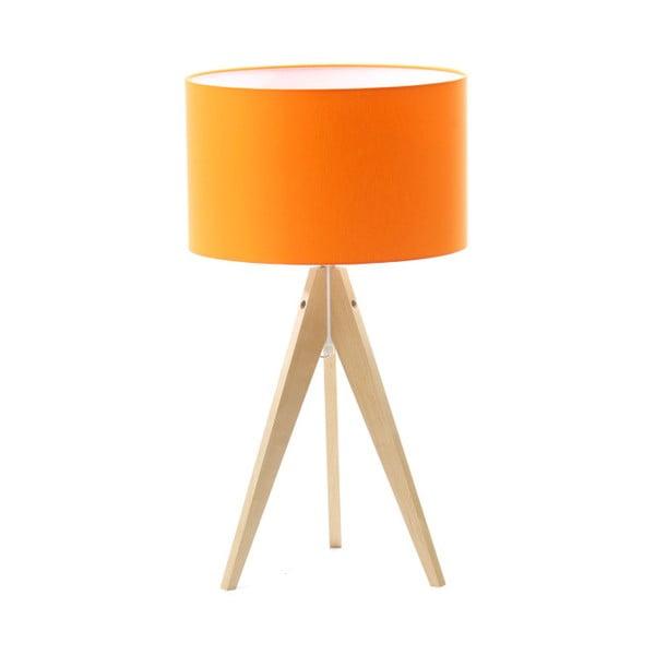 Oranžová stolová lampa Artist, breza, Ø 33 cm