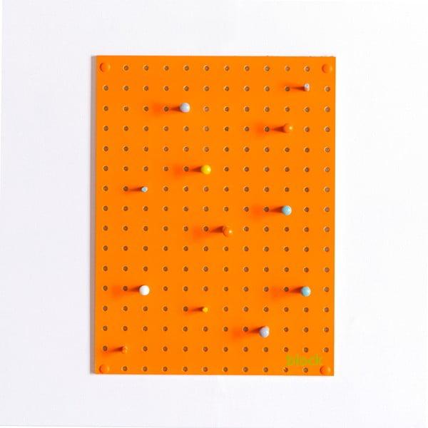 Multifunkčná nástenka Pegboard 30x40 cm, oranžová
