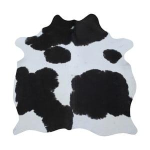 Čierno-biely koberec z hovädzej kože, 165 x 145 cm