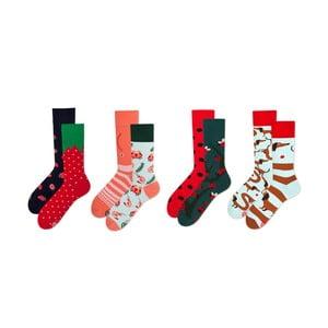 Sada 4 párov ponožiek v darčekovom balení Many Mornings Dots, veľ. 43–46