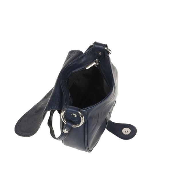 Kožená kabelka Ore Diece Livorno, modrá