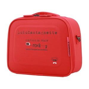 Červený príručný kufor LULU CASTAGNETTE Greg, 11 l