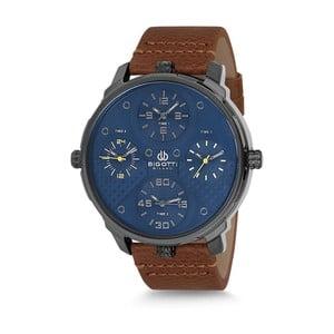 Pánske hodinky s hnedým koženým remienkom Bigotti Milano Casper