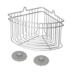 Kúpeľňový rohový košík Metaltex Frost, 19 x 19 cm