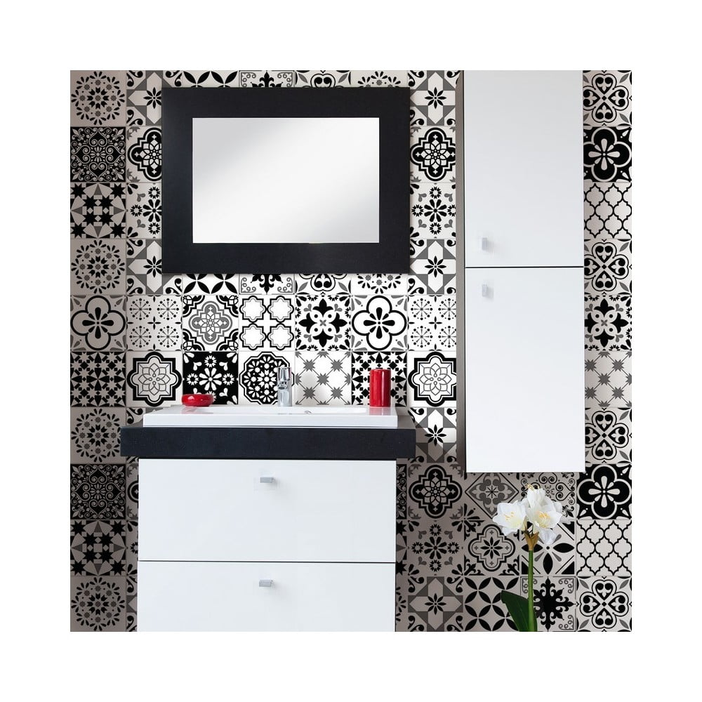 Sada 24 dekoratívnych samolepiek na stenu Ambiance Alexiano, 10 × 10 cm