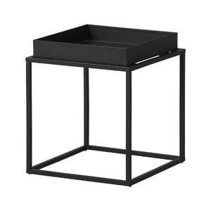 Čierny kovový odkladací stolík Intersil Club NY