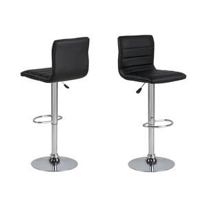 Čierna barová stolička s nastavitelnou výškou Actona Valerie