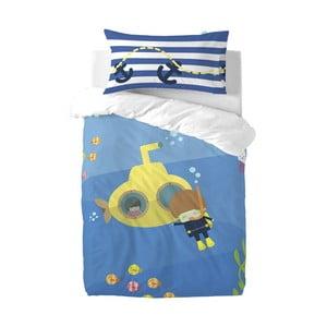Detské obliečky z čistej bavlny Happynois Yellow Submarine, 115×145 cm