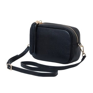 Čierna kabelka / listová kabelka z pravej kože Andrea Cardone Pezzo